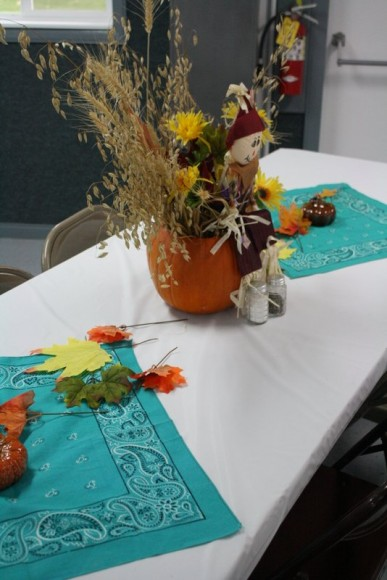 Pumpkin Centerpieces on the Table