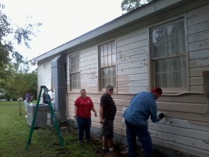 Volunteers Repainting the Cibolo Grange Hall