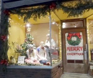 Flora Jr. Grangers living window during Hometown Christmas