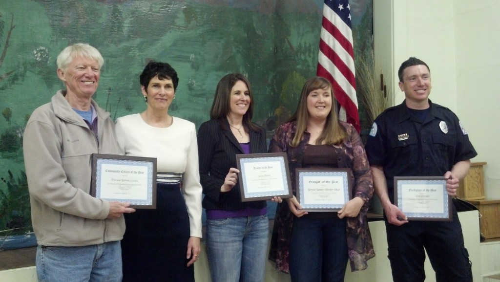 Our honorees with their certificates