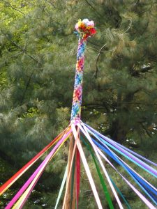 colorful maypole