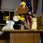 Animals on Podium