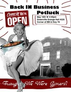 Marilyn Monroe Potluck Flyer