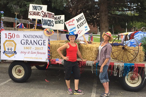 UBWR Grange Float in 2016 Hailey Fourth of July Parade