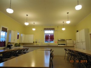 We provide a good cooking space including a sink, microwave, stove, and oven, as well as plenty of dining space.