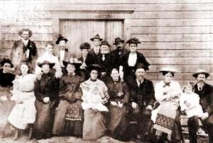 Leedy Grange, 1908. H. Ross Findley, top left. (Courtesy Findley family descendants)